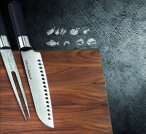 A user friendly and practical way to store your knives and keep them at hand is to use a knife block or a magnetic knife stand.